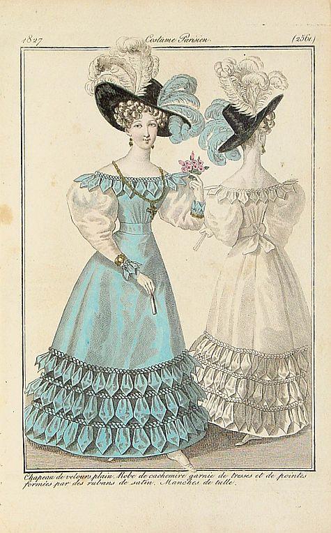 COSTUME PARISIEN -  Chapeau de velours plain.. (2561)
