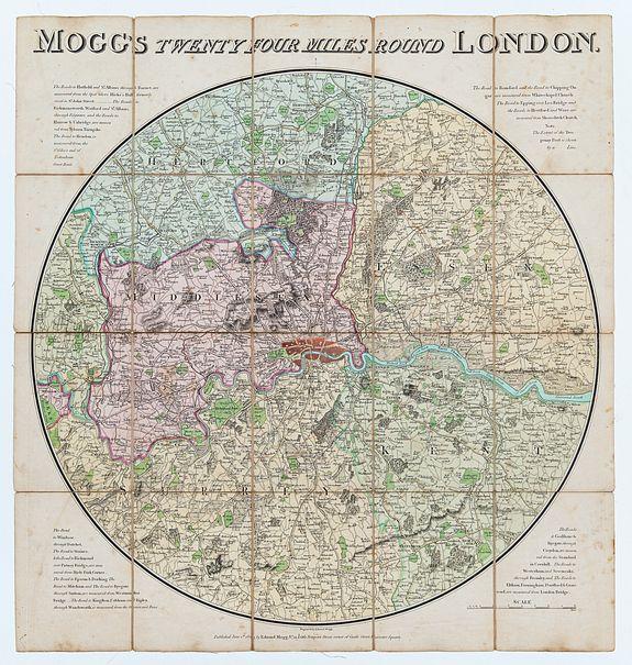 MOGG, Edward. -  Mogg's Twenty Four Miles Round London.