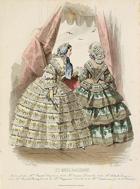 LES MODES PARISIENNES -  Paris fashion plate. (697)