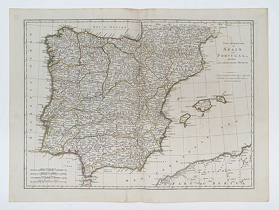 [KITCHIN, Thomas] -  The Kingdoms of Spain and Portugal, divided into their Great Provinces.