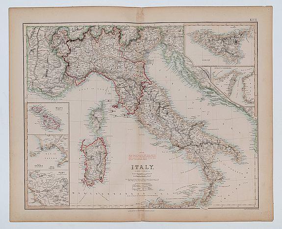 SWANSTON, G.H. (engr). -  Italy, According to Kiepert &c.