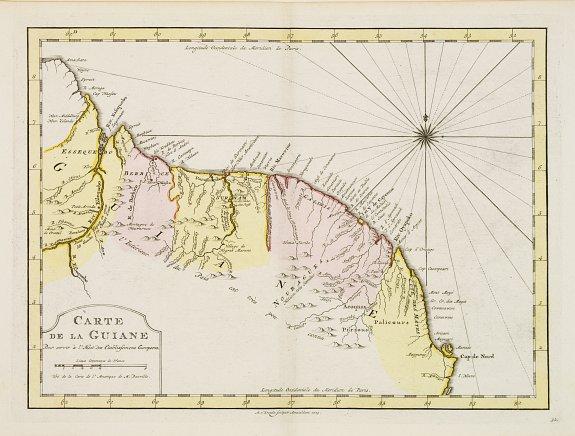 HARREVELT, E.van/ CHANGUION, D.J. -  Carte de La Guiane..