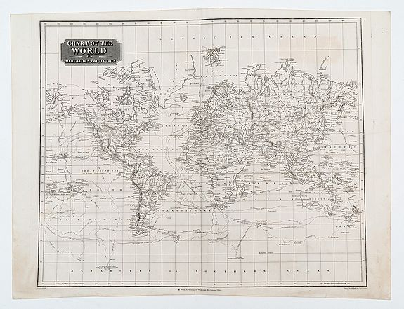 THOMSON, John. -  Chart of the World on Mercator's Projection