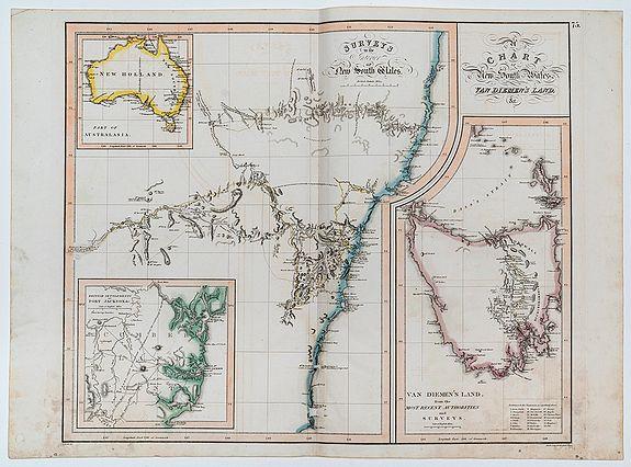 ASPIN, J[ehoshaphat ]. -  Chart of New South Wales, Van Diemen's Land &c.
