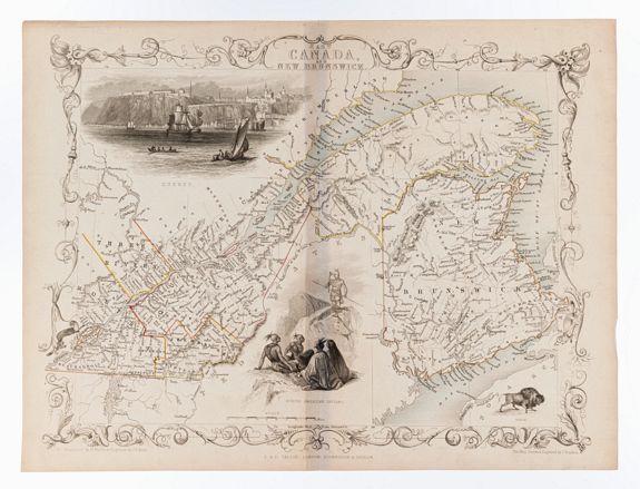 RAPKIN, J. [TALLIS, John]. -  East Canada and New Brunswick.