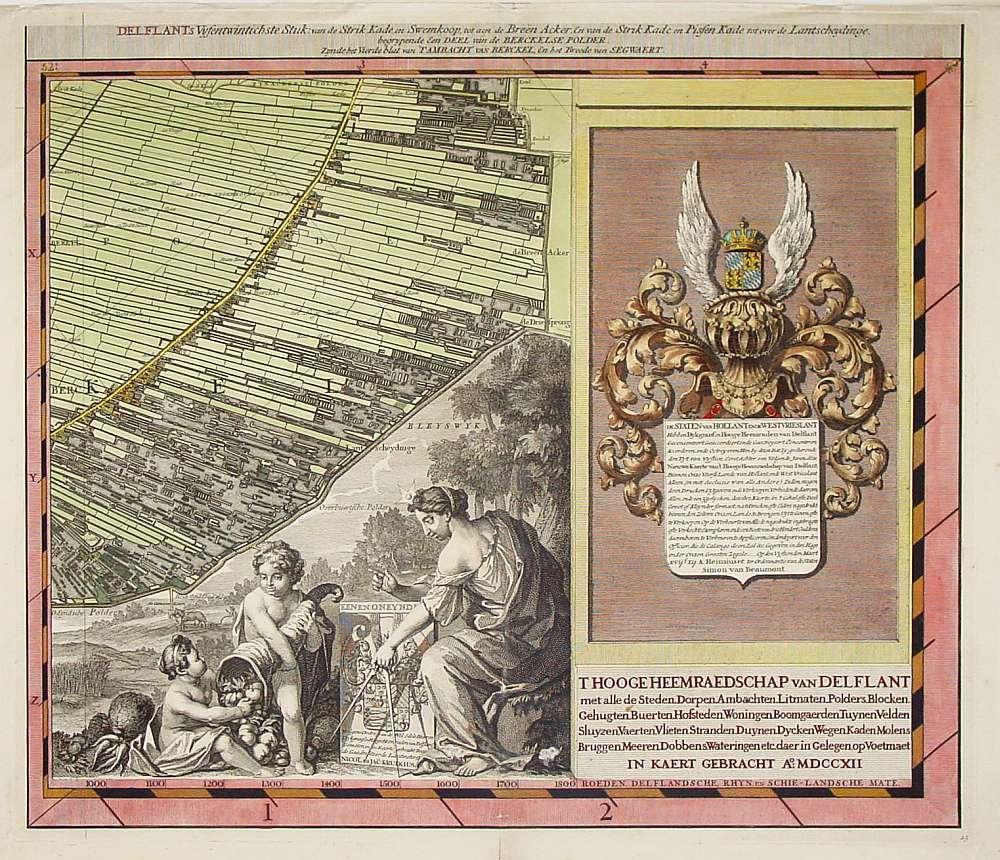 CRUQUIUS,N./ J. -  't Hooge Heemraedschap van Delflant.