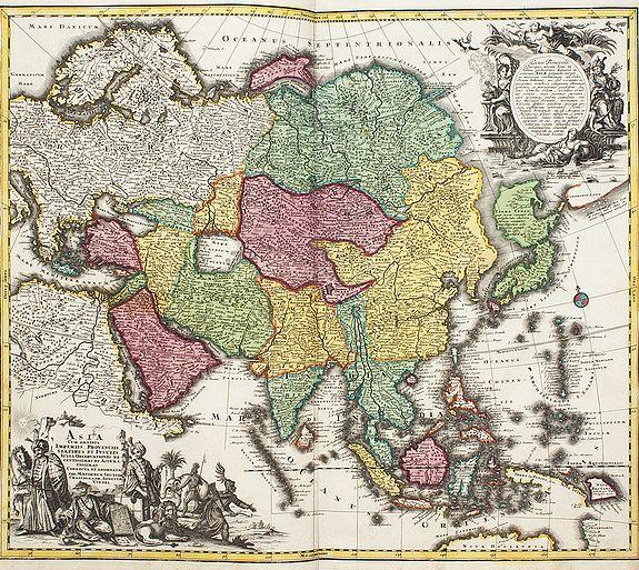 SEUTTER, Matheus -  Asia cum omnibus Imperiis Provinciis, Statibus et Insulis