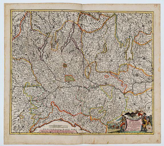 HOMANN, Johann Baptist. -  Belli Typus in Italia, Victricis Aquilae Progressus in Statu Mediolanensi et Ducatu Mantuae
