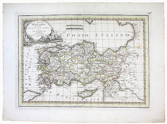 CASSINI, Giovanni Maria. -  L'Asia Minore divisa nelle sue parti o Provincie.