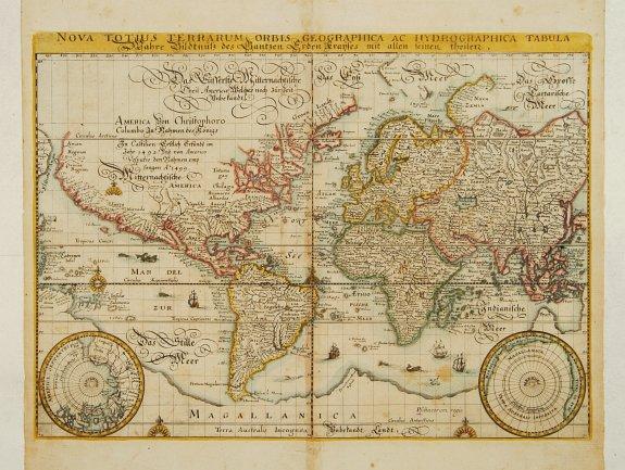 MERIAN,M. -  Nova totius terrarum orbis geographica ac hydrographica..