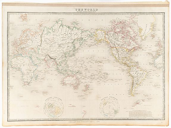 WYLD, James -  The World on Mercators Projection.