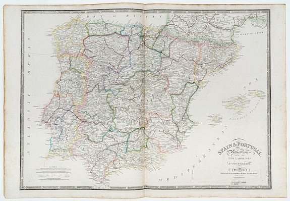 WYLD, James -  Spain & Portugal reduced from the large map in four sheets.