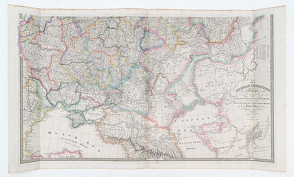 WYLD, James. -  The Russian Dominions in Europe drawn from the latest maps printed by the Academy of Sciences, St. Petersburg; revised and corrected with the post roads & new governments from the Russian Atlas of 1806 by Jasper Nantiat.