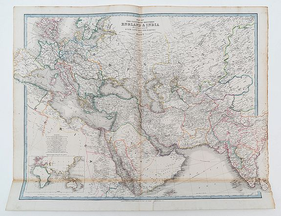 WYLD, James -  Map of the Countries between England & India designed to shew the Overland and sea-routes to the East.....