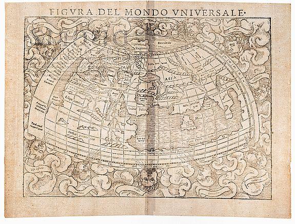 MÜNSTER, Sebastian. -  Figura del Mondo Universale.  [Old World]