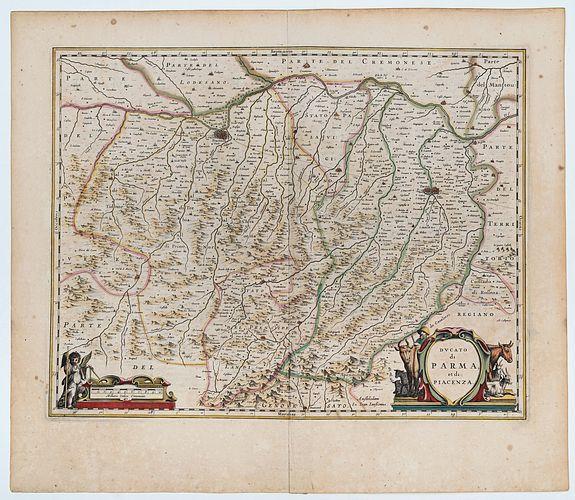 JANSSONIUS. Joannes -  Ducato di Parma et di Piacenza.