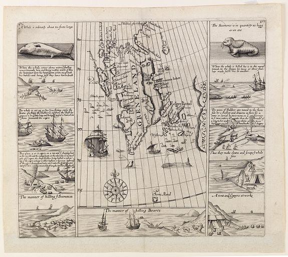 CHURCHILL -  [No title] Map of Spitzbergen.