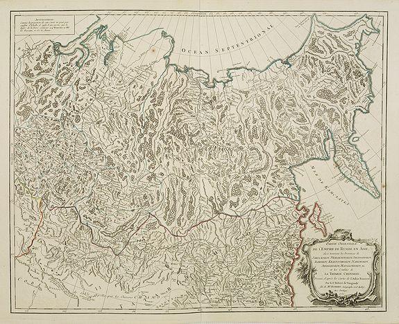VAUGONDY, R. de -  Partie Orientale de l'Empire de Russie en Asie.