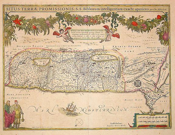 HONDIUS,H. -  Situs Terrae Promissionis.