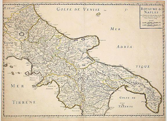 SANSON, N. / MARIETTE, P. -  Royaume de Naples..