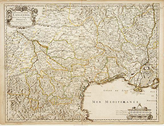 SANSON,N. / MARIETTE,P. -  Gouvernem.t du Languedoc..