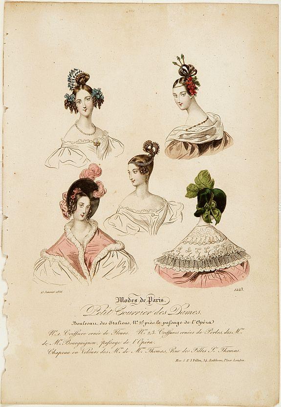 MODES DE PARIS -  Paris fashion plate. (1223)