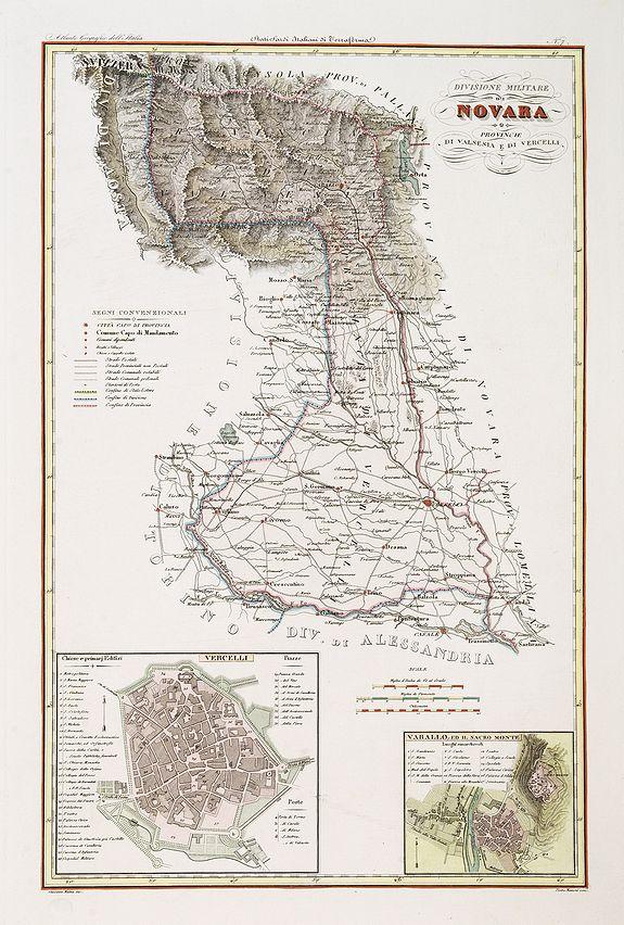 STANGHI, V. -  Divisione militaire di Novara. Provincie di Valsesia e di Vercelli.