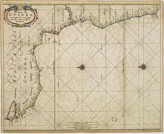 GOOS, P. -  Pas-Caart van Guinea en den Custen daer aen gelegen Van C..