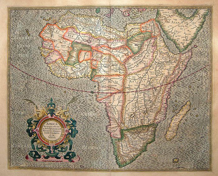 MERCATOR, G. / HONDIUS, J. -  Africa ex magna orbis terre descriptione Gerardi Mercator. . .