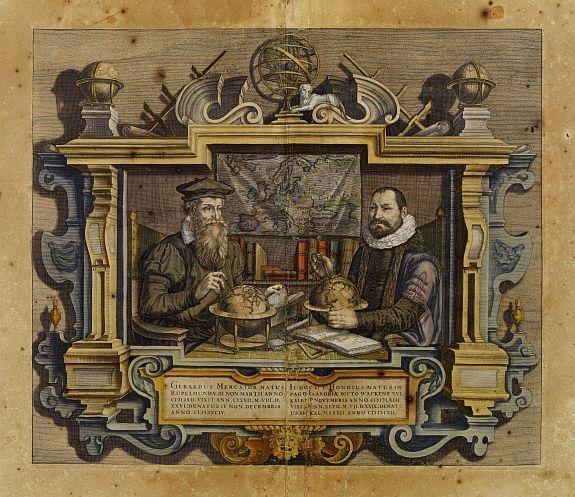 MERCATOR,G./ HONDIUS,J. -  [Title page] Gerardus Mercator natus Iudocus Hondius. . .