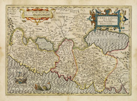 MERCATOR, G. / HONDIUS, J. -  Terra Sancta que in Sacris Terra Promissionis ol: Palestina.