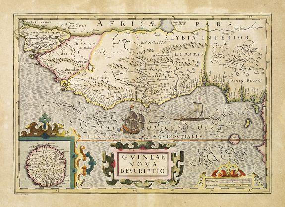 MERCATOR, G. / HONDIUS, J. -  Guineae Nova Descriptio.