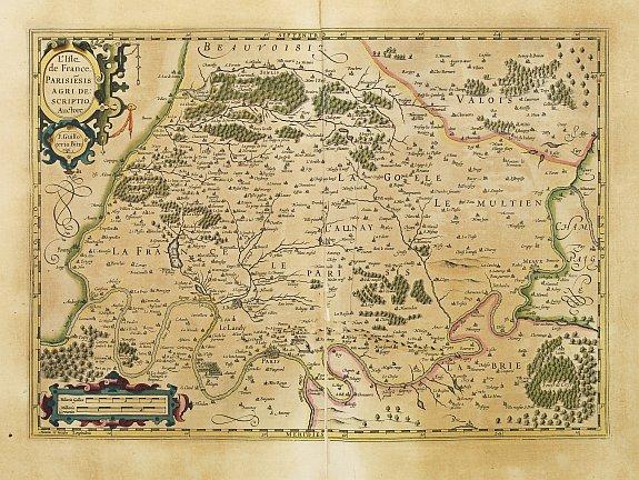 MERCATOR,G./ HONDIUS,J. -  L´Isle de France. Parisiesis Agri Descriptio..