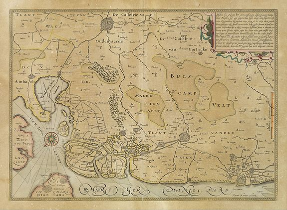 MERCATOR, G. / HONDIUS, J.,  No title. [Flanders], antique map, old maps