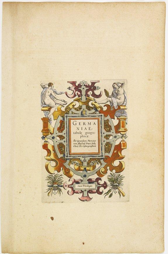 MERCATOR, G./ HONDIUS, J. -  [Titlepage] Germaniae tabule geographicae.