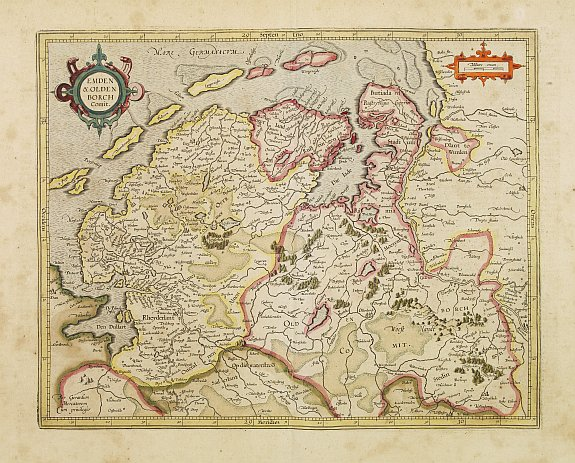 MERCATOR, G. / HONDIUS, J. -  Emden & Oldenboch Comit.