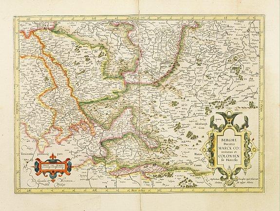 MERCATOR,G./ HONDIUS,J. -  Berghe Ducatus Marck Comitatus et Colonien..