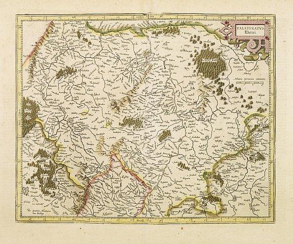 MERCATOR, G./ HONDIUS, J. -  Palatinatus Rheni.