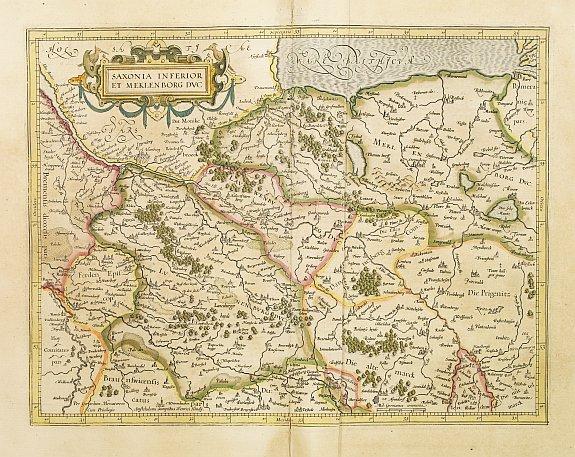 MERCATOR,G./ HONDIUS,J. -  Saxonia inferior et meklenborg duc.