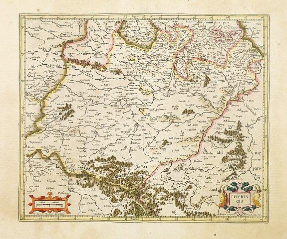 MERCATOR,G./ HONDIUS,J. -  Thuringia.