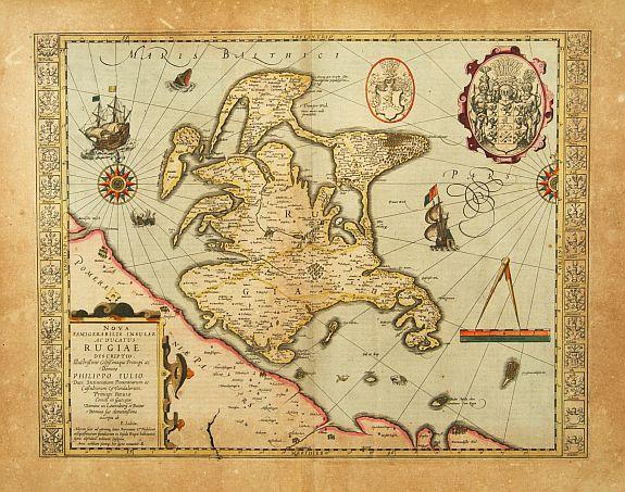 MERCATOR, G./ HONDIUS, J. -  Nova famigerabilis insulae ac ducatus Rugiae descriptio.