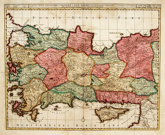 VISSCHER,N. -  Tabula nova geographica Natoliae et Asiae minoris..