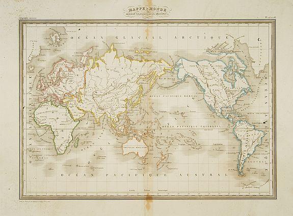 THIERRY -  Mappe-Monde suivant la projection de Mercator.