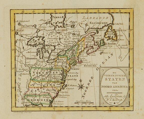 HOLTROP,W. -  De vereenigde staten van Noord America.