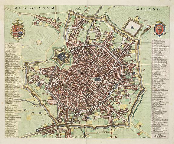 BLAEU, J. / MORTIER, P. / ALBERTS, R. -  Mediolanum. Milano.