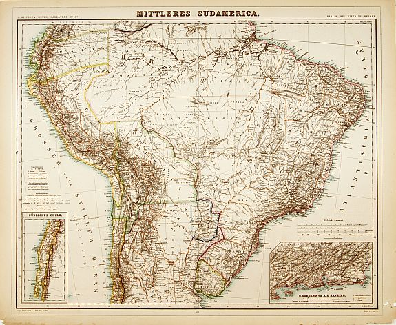 KIEPERT,H. -  Mittleres Südamerica.