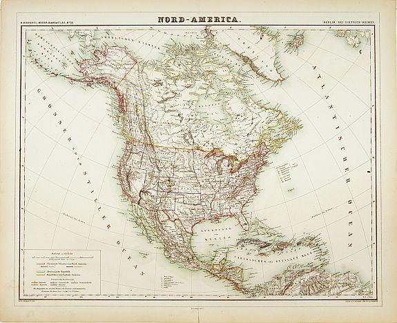 KIEPERT, H. -  Nord-America