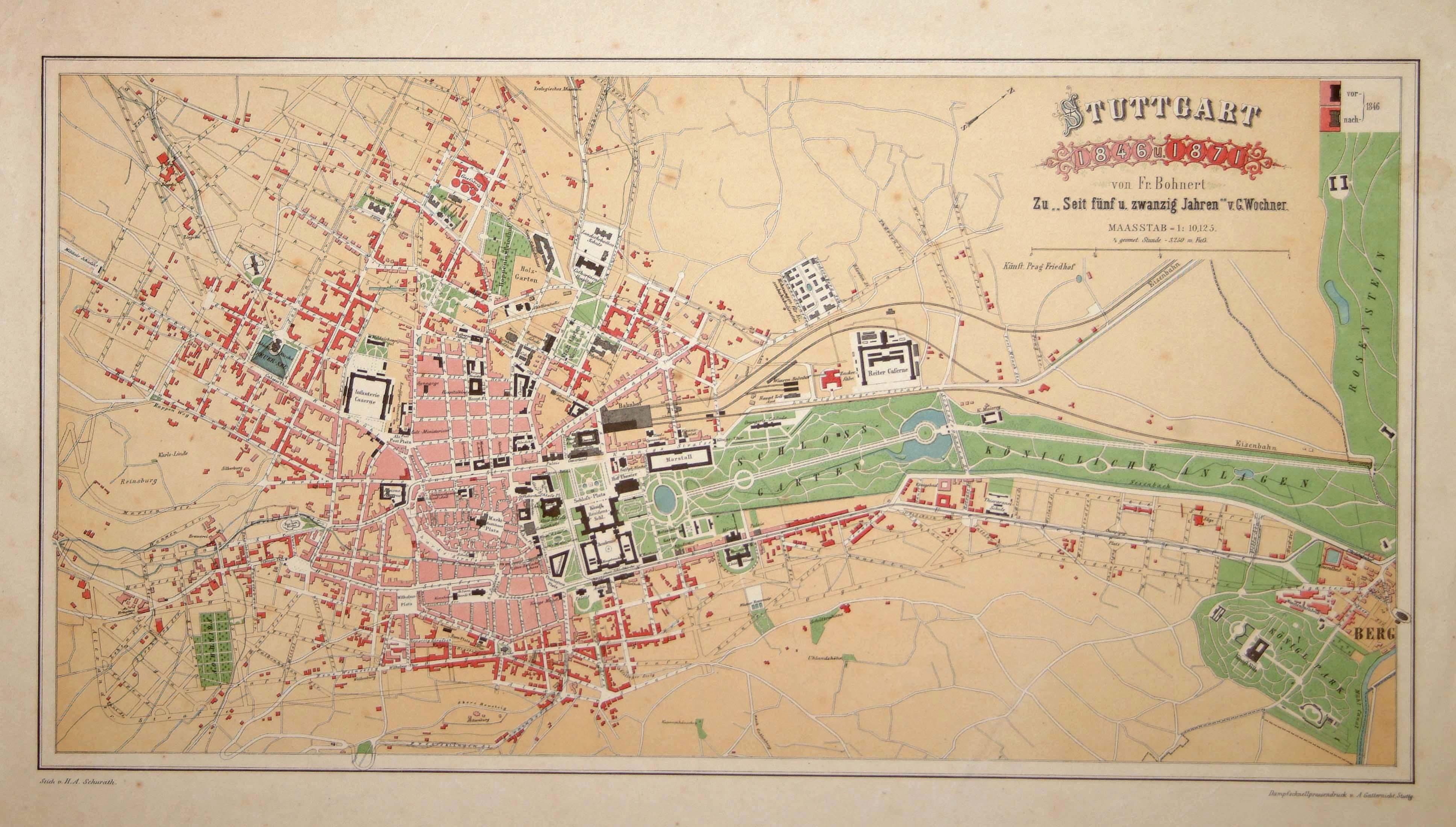 BOHNERT Stuttgart 1846 u 1871