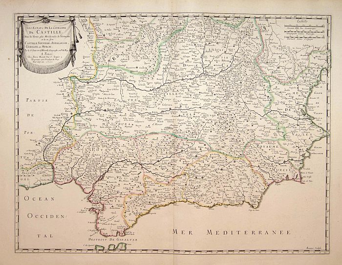 SANSON, N. / MARRIET, P. -  Les Etats de la couronne de Castille.. Andalousie..