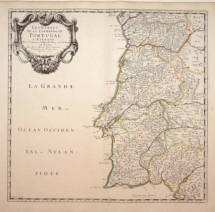SANSON, N. / MARIETTE, P. -  Les Etats de la couronne de Portugal en Espagne..